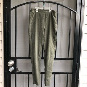 Olive green stretchy jeggings